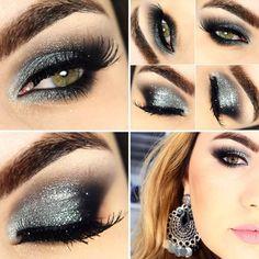 Tutorial – smokey eyes prata e preto
