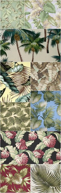 Our gorgeous Tropical Hawaiian Leaf Prints come in a large variety of colors and patterns.  From customer favorite Banana Leaf, to our signature Palm Trees, these 100% cotton fabrics are iconic and unique.