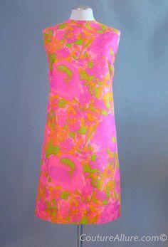 60's Psychedelic Silk Shift Dress