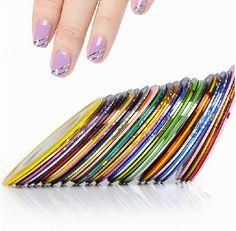 10pcs Striping Tape Line Nail Art Sticker Decoration DIY Decals UV Gel Acrylic Nail Ti[s