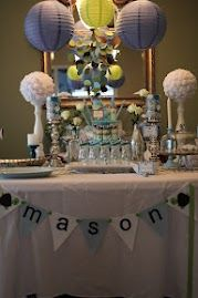 Boy Baby Shower Table Decor
