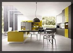cuisine jaune. interieur deco. Clem Around The Corner