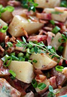 Receita - Salada de batata com bacon