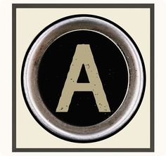 Get your FREE printable for Pottery Barn inspired typewriter key art!
