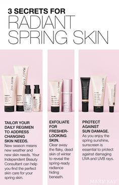 Customize, exfoliate and protect! Reveal radiant skin this spring. | Mary Kay