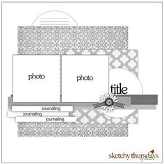 2 photo  scrapbook layout