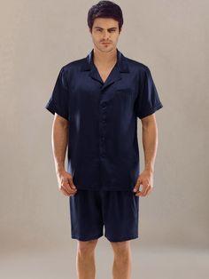 men's Jacquard Men Silk Pajamas | MEN'S LOUNGE WEAR | Pinterest ...