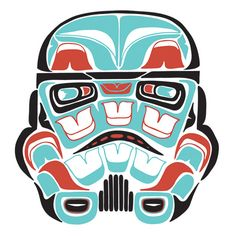 Star Wars imagined as traditional Northwest Coast Indian art by Scott Erickson