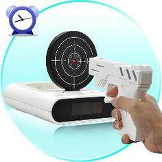 Gun Alarm Clock--Cool Tech Gadget