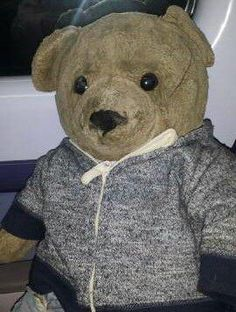 Lost on 03/10/2014 @ hammersmith & city tube. Very precious teddy lost on tube about 6.30am 3/10/14. Wearing orange cords and blue/grey hoodie. Totally devastated family waiting for him. Visit: https://whiteboomerang.com/lostteddy/msg/kmkaw7 (Posted by Hilary on 19/10/2014)