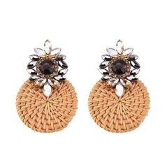 Rattan Crystal Diamond Fashion Earrings 14.99 CAD Flat Wedges, Shoes Heels Wedges, Maternity Swimsuit, Shirt Bag, Crystal Diamond, Skirt Leggings, Baseball Shirts, Hoodie Dress, Jewelry Organization