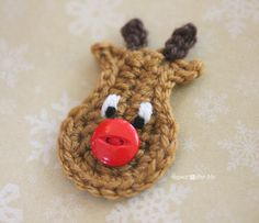 Crochet Reindeer Applique Pattern