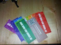 Geocaching signature cards!