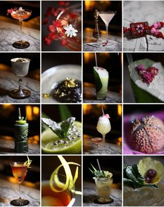 The Artesian's cocktail garnishes in Class Magazine. Photos by Dan Malpass.