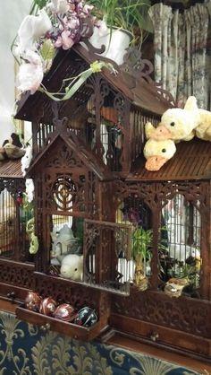 Gabbietta per uccelli primo '900 decorata per Pasqua 2016