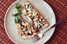 Apple Feta Basil Flatbread. Use sharp feta to counterbalance the sweet apples. Get the recipe at A Beautiful Mess.
