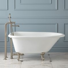 """48"""" Cambria Cast Iron Roll-Top Clawfoot Tub"""