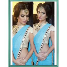 Graceful Sea Green Color Georgette Mirror Work Saree at just Rs.1020/- on www.vendorvilla.com. Cash on Delivery, Easy Returns, Lowest Price.