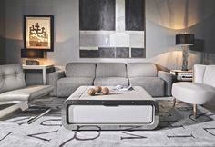Amazing modern sofas ideas to inpire you Luxury Sofa, Luxury Furniture, Furniture Design, Contemporary Coffee Table, Modern Coffee Tables, Home Decor Trends, Decor Ideas, Luxury Homes Interior, Contemporary Interior Design
