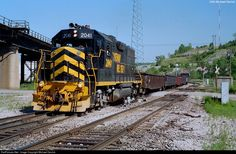 A Gateway Western local heads west through Santa Fe Junction on its way back to Mill Street Yard. The mid-90s were a last stand of sorts for the Kansas City railfanning scene. Many railroads which could be seen during that time were gone within just a few years of when this photo was taken.