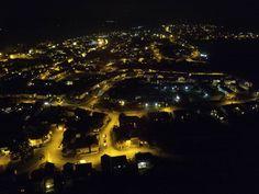 Axminster at night.