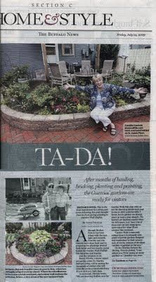 A Delavan Avenue Garden on the front page of the Lifestyles section of the Buffalo News.