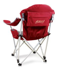 Picnic Time Red Budweiser Reclining Camp Chair | zulily