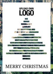 Sliced Christmas Tree - Christmas cards Corporate. Online Corporate Christmas card with Sliced Christmas tree over the photo.