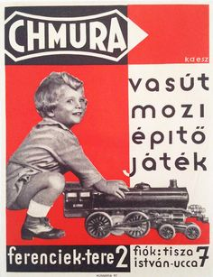 Chmura - train, cinema, construction toys, Hungary, 1930