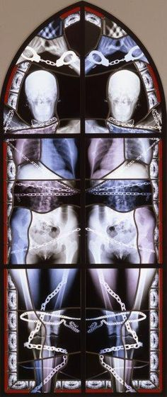 Stained glass windows made from x-rays.