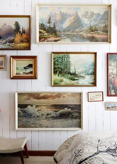 Julie Patterson Mountain Home via The Design Files via dustjacketattic Interior Inspiration, Design Inspiration, Design Ideas, Design Art, Design Blog, Wall Design, Sweet Home, Landscape Walls, Landscape Paintings