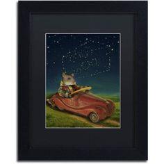Trademark Fine Art 'Mice Series #5.5' Canvas Art by J Hovenstine Studios, Black Matte, Black Frame, Size: 11 x 14, Multicolor
