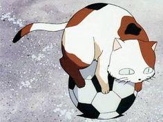 Buyo on a soccer ball - InuYasha screenshot, funny