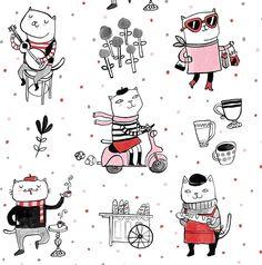Cat Pattern - Lauren Lowen