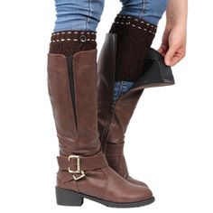 """Baost Women Fashion Winter Leg Warmers Button Crochet Knitting Boot Socks Toppers Cuff. Fashion and practical, it can keep warm and protect your legs. Material: Acrylic Fiber. Length: 19cm/7.48"""", Width: 10cm/3.94"""" (Approx.). Features: Button Decor, Elastic, Warm."""