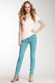 Vigoss Teal Skinny Jagger Jean love this