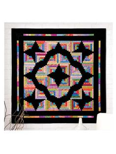 Butterfly Log Cabin Quilt ~ gorgeous!