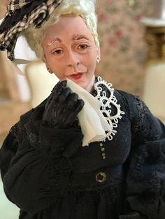 ORIGINAL 1998 MARCIA BACKSTROM Miniature Dollhouse Doll THE WEEPING WIDOW #MarciaBackstrom