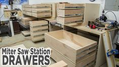 Miter Saw Station Storage Drawers - 195