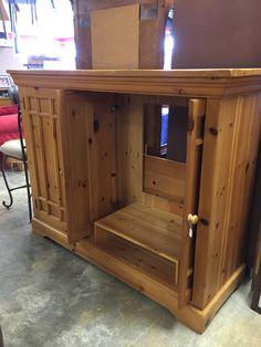Beautiful wood entertainment center- $300  #furniture #mk #consignment #forsale #entertainment #tv #home #house #apartment #wood #decor #design #livingroom #basement