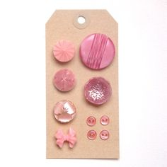 Pink vintage buttons. £3.50