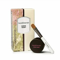 BareMinerals Blemish Therapy Heal, conceal and prevent future breakouts with this targeted, all-in-one treatment. The exfoliating properties of 100% pure RareMinerals ActiveSoil Complex, along with the acne-healing benefits of natural sulfur, effectively treat acne and blemishes while preventing future breakouts from forming. This non-irritating formula also helps to minimize pores, neutralize redness and diffuse imperfections. Heal and Conceal brush included. 0.03 oz. bareMinerals Makeup