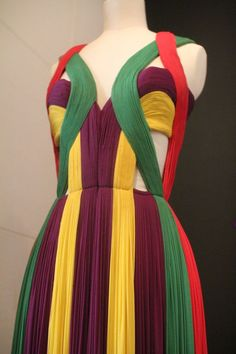 Looks like the dress Deborah Keir wore in An Affair to Remember.  I like the colors in the one wore in that movie better but the design is beautiful. Madame Grès exhibition at the Musée Bourdelle in Paris