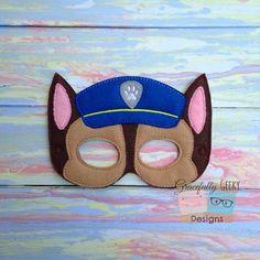 Chase Felt Mask Embroidery Design - 5x7 Hoop or Larger