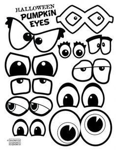 Pumpkin eyes and mouths. This would make a fun singing time. Have a few blank pumpkins either paper or real, and write song names on the back of the eyes and mouths. Fall Crafts, Holiday Crafts, Holiday Fun, Crafts For Kids, Halloween Pumpkins, Halloween Crafts, Halloween Decorations, Halloween Drawings, Pumpkin Eyes
