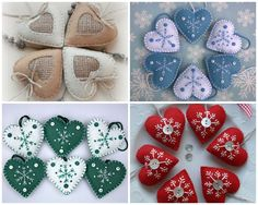 16 Awesome Ideas for DIY Christmas Decorations Art and Craft Crochet Christmas Ornaments, Handmade Christmas Decorations, Felt Decorations, Christmas Embroidery, Felt Ornaments, Christmas To Do List, Aussie Christmas, Christmas Crafts, Nordic Christmas