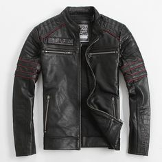 Find More Leather & Suede Information about Men's Leather Jacket Genuine…