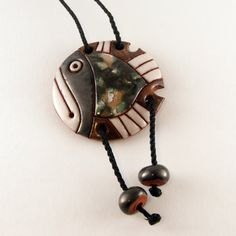 Handmade Ceramic Fish Necklace