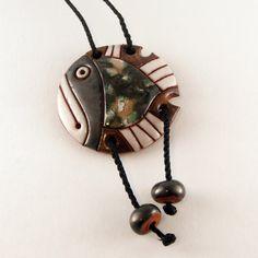 Handmade Ceramic Fish Necklace
