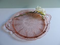 Jeanette Glass Co. Cherry Blossom Pink by used2bnewVintage on Etsy
